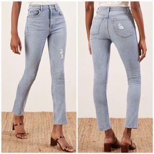 Reformation Hepburn Ibiza Wash HIgh Rise Jeans
